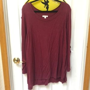 LC Lauren Conrad Burgundy Sweater Size 3x